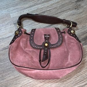 Moschino cheap and chic pink suede bag